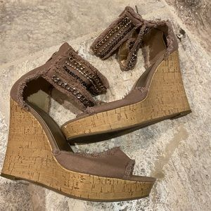 Guess wedge sandals. Size 10